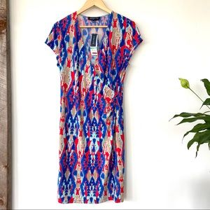 Jones New York midi print dress